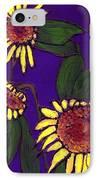 Sunflowers On Purple IPhone Case