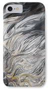 Textured White Sunflower IPhone Case