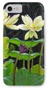 Touching Lotus Blooms IPhone Case