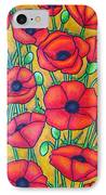 Tuscan Poppies - Crop 1 IPhone Case