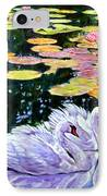 Two Swans In The Lilies IPhone Case