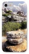 Unusual Rock Formations In The El Torcal Mountains Near Antequera Spain IPhone Case