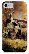 Village In Fall IPhone Case