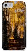 Walking With Aspens IPhone Case