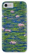 Water Lily Flowers Happy Water Lilies Fine Art Prints Giclee High Quality Impressive Color Lotuses IPhone Case