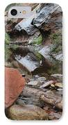West Fork Trail River And Rock Horizontal IPhone Case