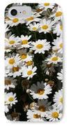 White Summer Daisies IPhone Case