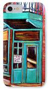 Wilenskys Cafe On Fairmount In Montreal IPhone Case