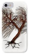 Windswept Tree Wall Sculpture 2 IPhone Case