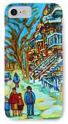 Winter  Walk In The City IPhone Case