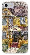Yellow Batik House IPhone Case