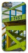 74th Street Lifeguard Tower Sunrise - Miami Beach - Florida - Square Crop IPhone 8 Plus Case by Ian Monk