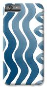 Waves And Pebbles- Abstract Watercolor In Indigo And White IPhone 8 Plus Case by Linda Woods
