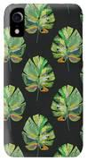 Tropical Leaves On Black- Art By Linda Woods IPhone XR Case by Linda Woods