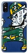 Notre Dame Fighting Irish Leprechaun Vintage Indiana License Plate Art  IPhone XS Max Case by Design Turnpike