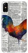Colorful Rooster On Vintage Dictionary IPhone XS Max Case by Hailey E Herrera