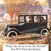 1920s Usa Overland Cars Poster