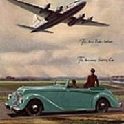 1940s Uk Aviation Hawker Siddeley Cars Poster