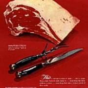 1940s Usa Meat Poster