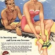 1950s Uk Sun Creams Lotions Tan Poster