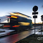 A Guided Bus Cambridgeshire Uk Poster