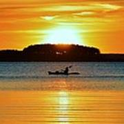 A Reason To Kayak - Summer Sunset Poster