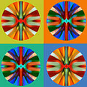 Abstract Circles And Squares 2 Poster by Amy Vangsgard
