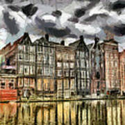 Amsterdam Water Canals Poster