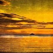 Autumn Sunset Over Ailsa Craig Poster