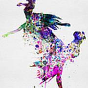 Ballet Watercolor 3 Poster