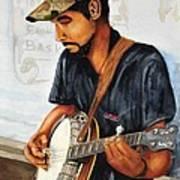 Banjo Player Poster by John W Walker