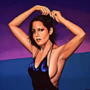 Barbara Carrera Painting Poster