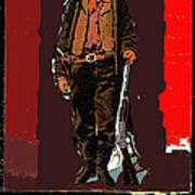 Bogus Drawing Photo Of Billy The Kid Ft. Sumner New Mexico C.1879-2013 Poster