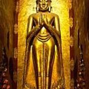 Buddha Inside Ananda Temple - Bagan - Myanmar Poster
