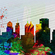 Buffalo City Skyline Poster
