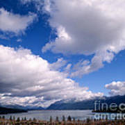 Clouds Over Lake Quinault Poster