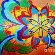Colorful Tile Abstract Poster