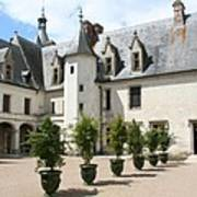 Courtyard Chateau Chaumont Poster