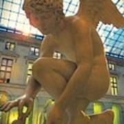 Cupid Playing With A Butterfly - Louvre Museum Paris Poster