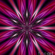 Dark Purple Abstract Star Duvet Cover  Poster