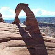 Delicate Arch And Shadow Poster