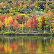 Echo Lake Fall Reflections Poster