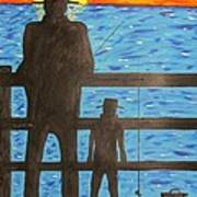 Father And Son Fishing Poster