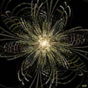 Filigree Flower Poster