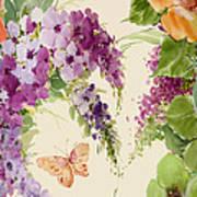 Flowering Butterfly Bush Poster