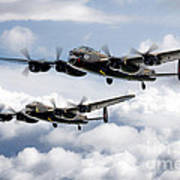Flying Lancasters Poster