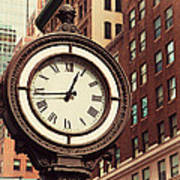Historic Clock Of The Fifth Avenue Poster