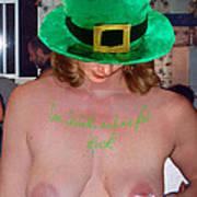 Im Irish Rub Me For Luck Poster