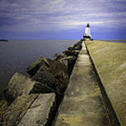 Ludington  Light House Michigan Poster