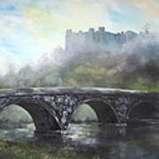 Ludlow Castle In A Mist Poster